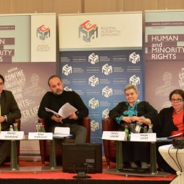 Sasa Jankovic, Serbia's Ombudsman sharing his message with RAD 2014 generation